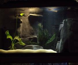 River Aquarium With Custom Concrete 3D Background