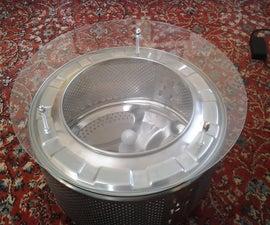 Old Washing Machine Drum Coffe Table
