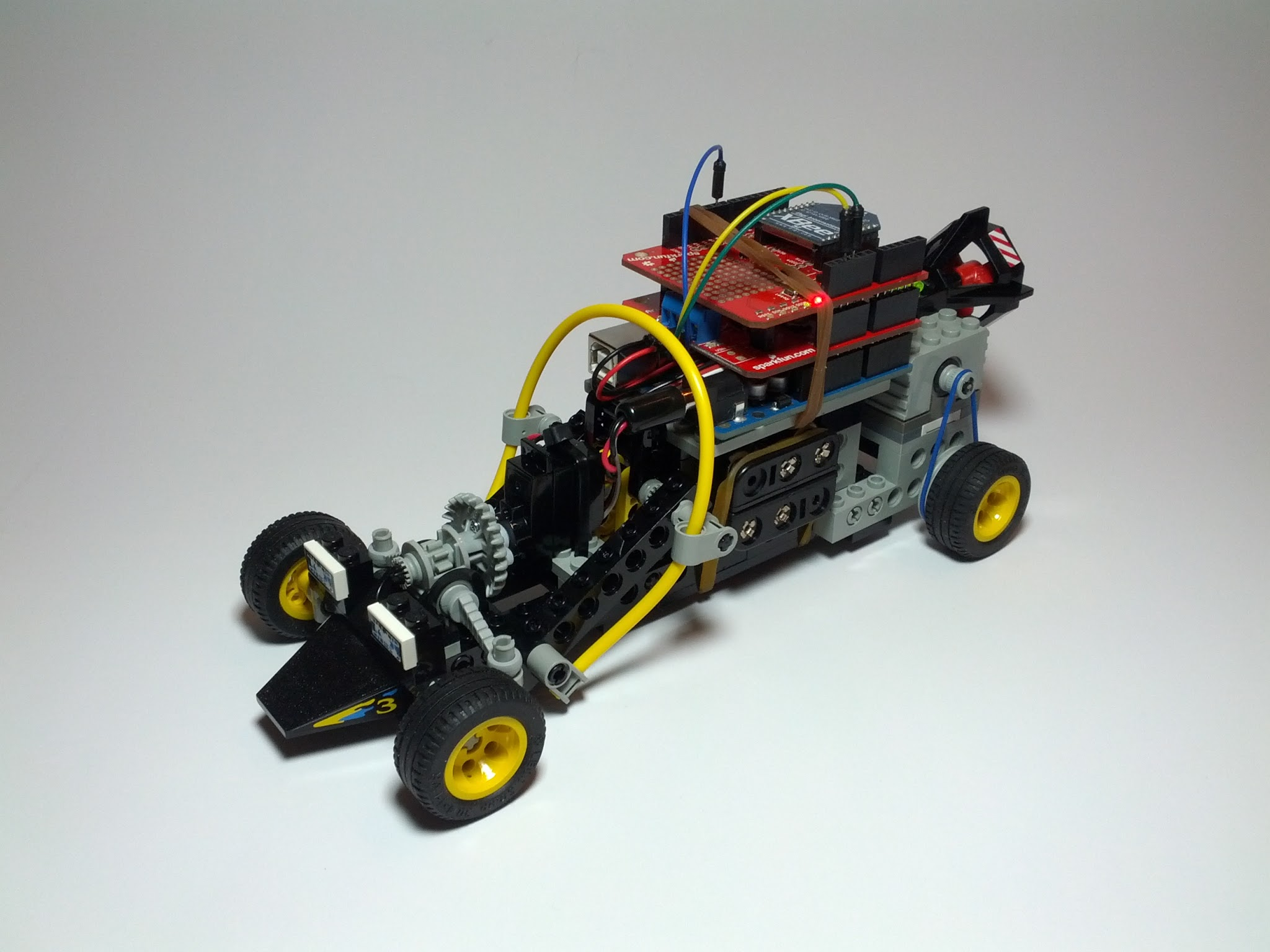 Picture of Lego Technic Car With Arduino + XBee Wireless Control