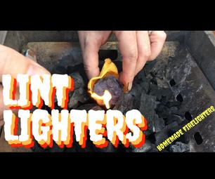 Lint Lighters - Homemade Firelighters