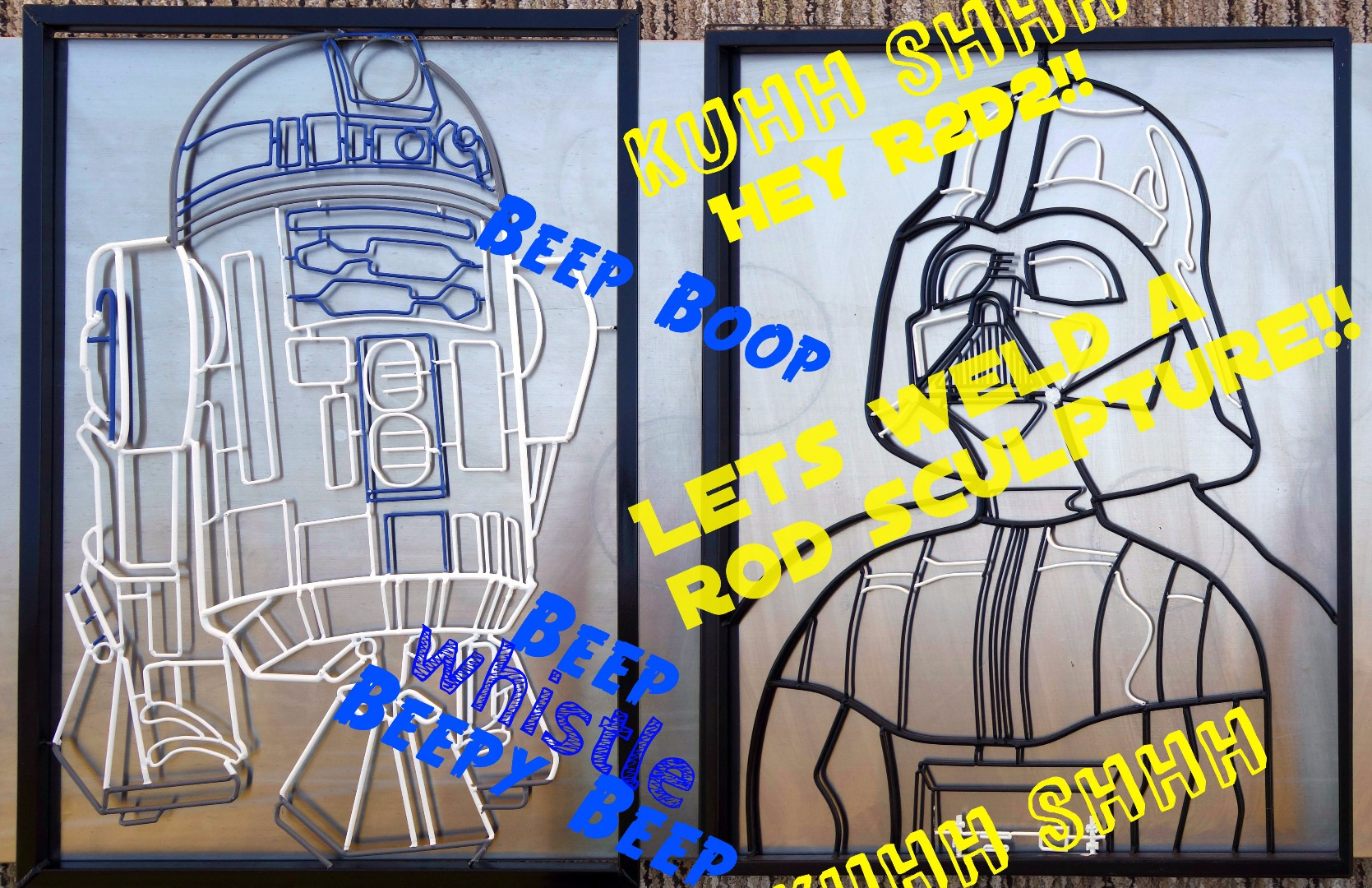 Picture of R2D2 Welded Rod Sculpture