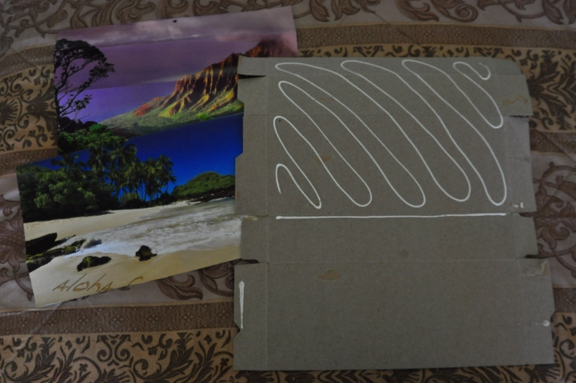 Picture of Glue on Decorative Paper