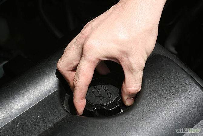 Picture of Tool Placement and Draining the Oil