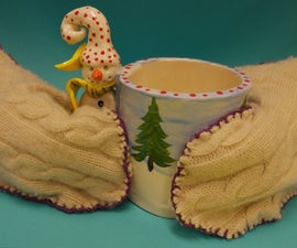 3-i boiled wool MITTENS