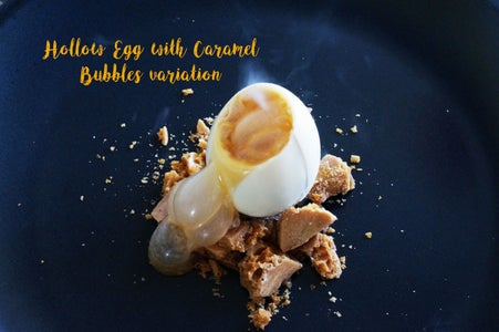 Chocolate Egg Surprise With Bubbling Bubbles or Flavored Foam