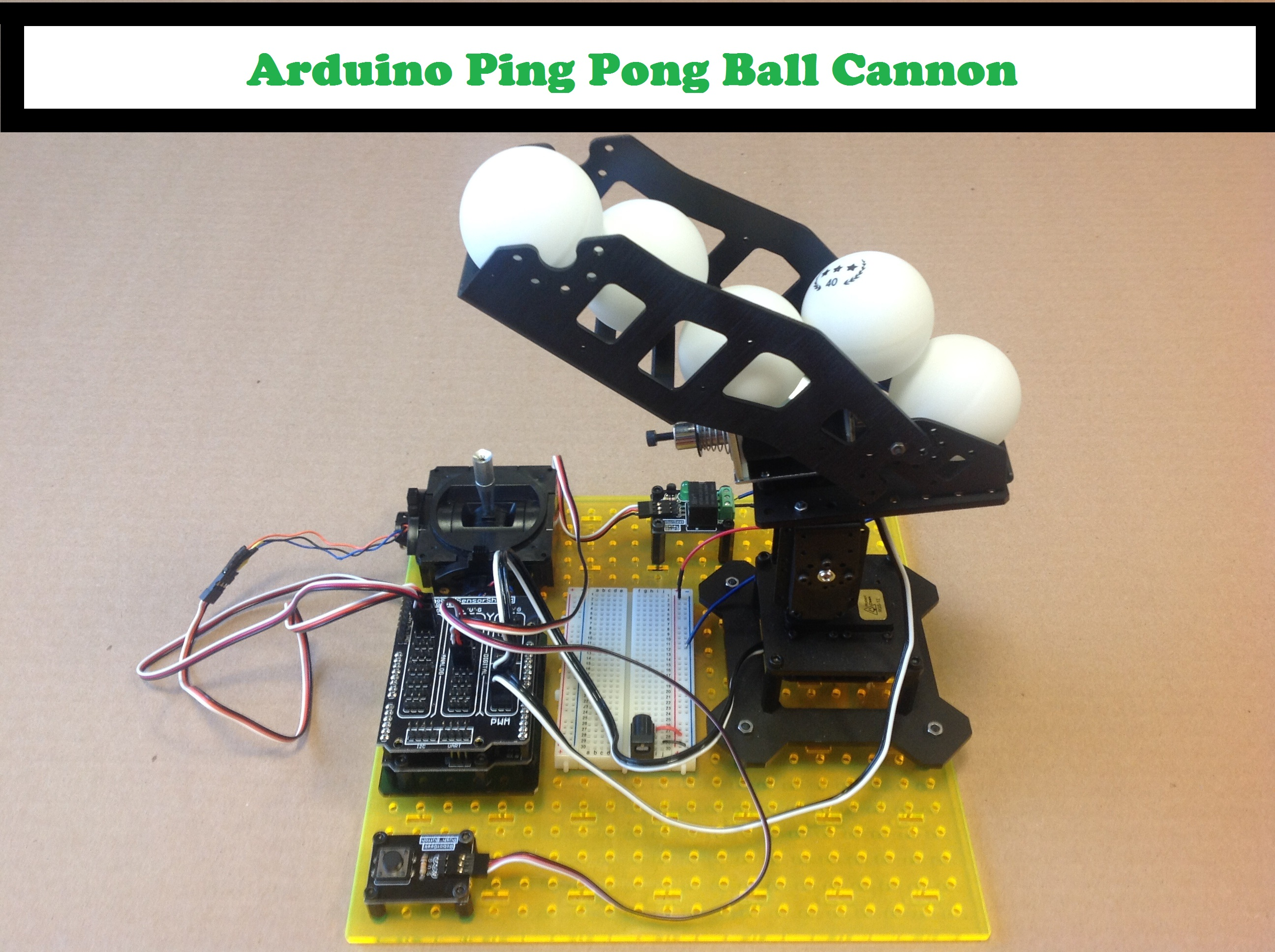 Picture of Arduino Ping Pong Ball Cannon