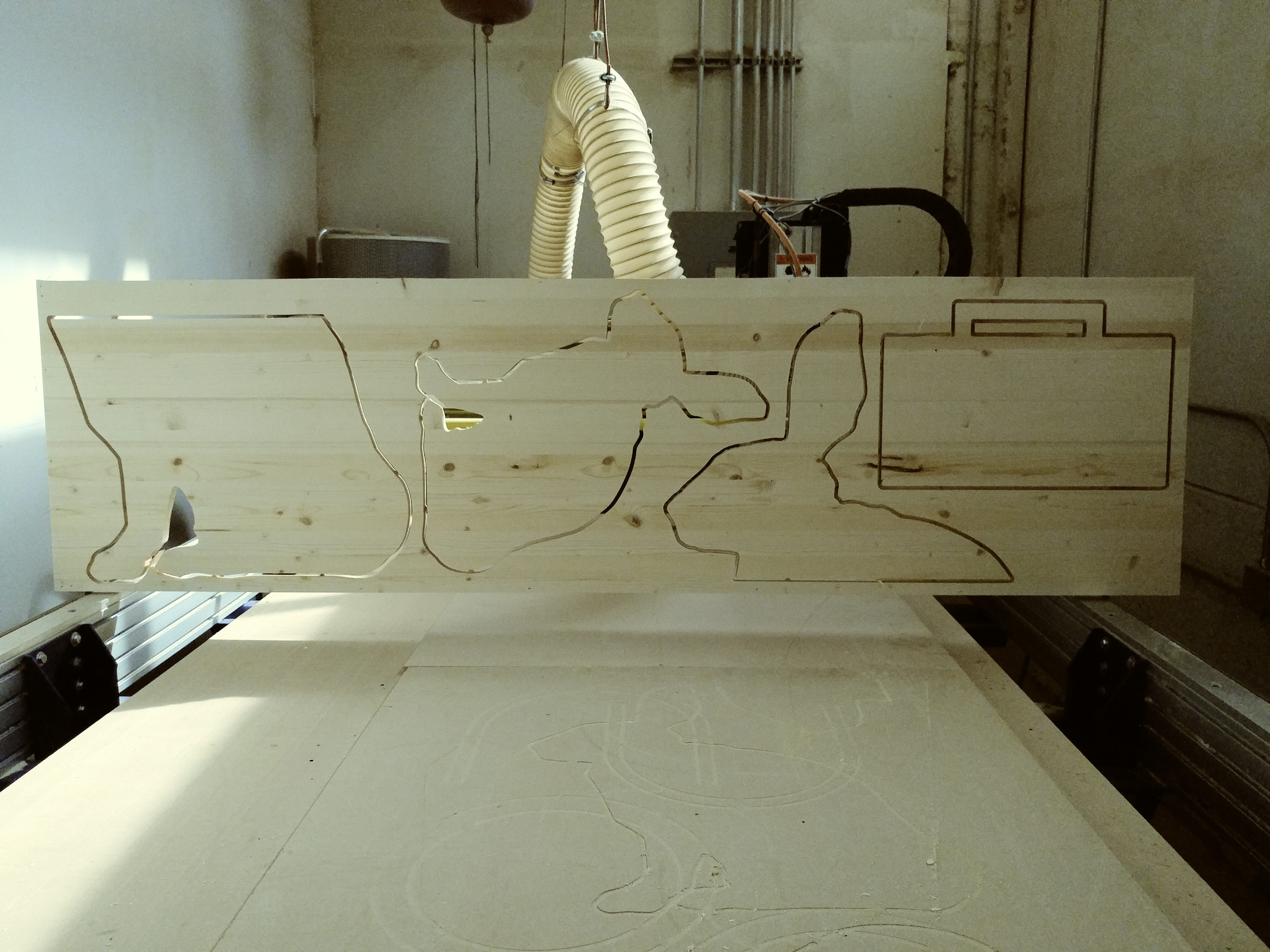 Picture of Next Step Was to Cad to Cam This Image and Cut It Out of Wood