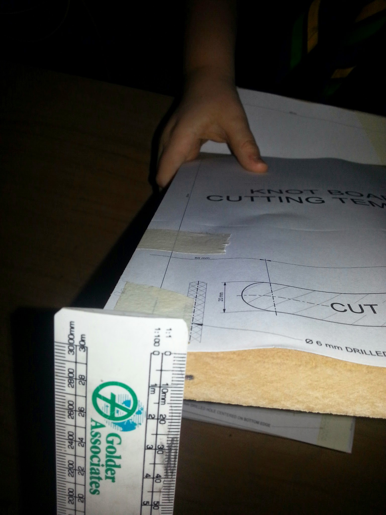 Picture of Knot Board Cutting Template