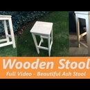 Wooden Bar Stool - Mortise and Tenon Joinery