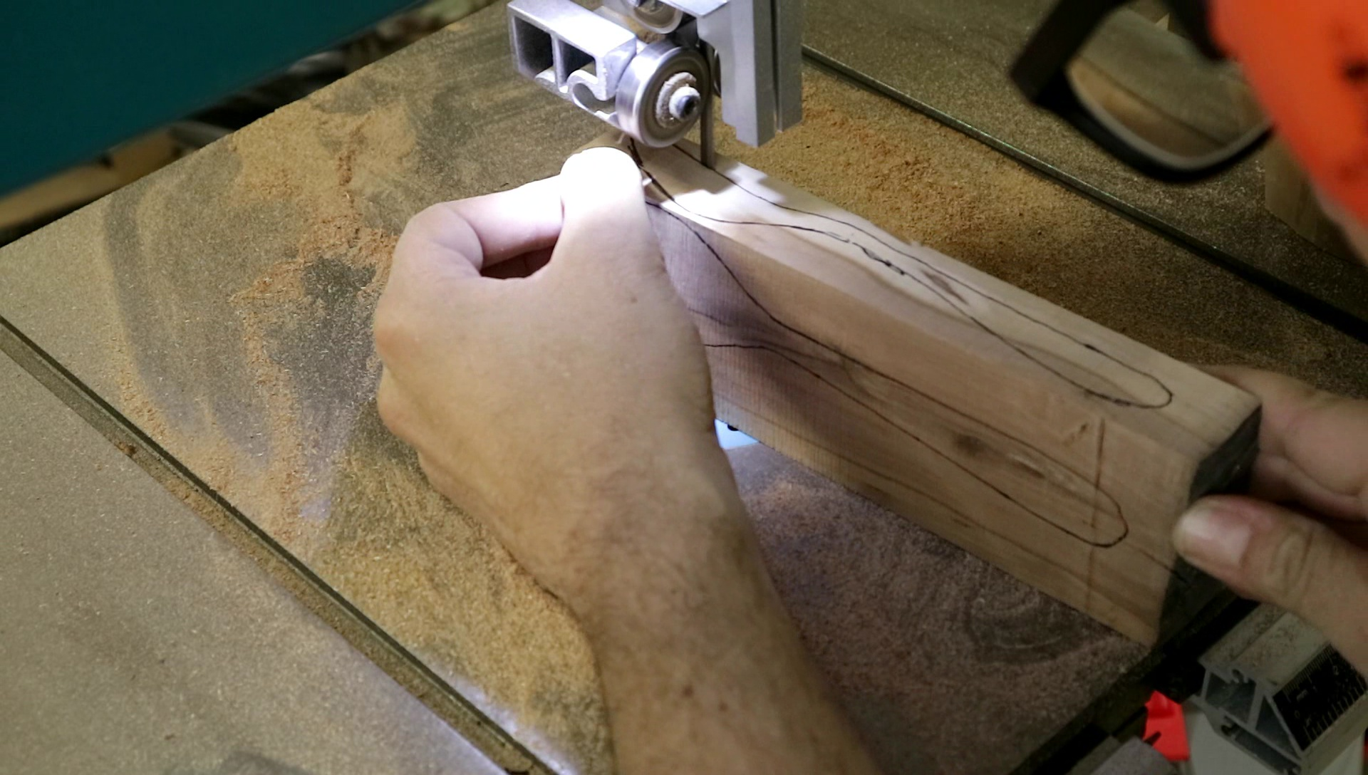 Picture of Cutting Out the Spoon Form