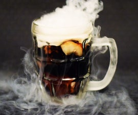 15 Minute Homemade Dry Ice Root Beer
