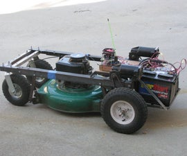 Arduino R/C Lawnmower (painted)