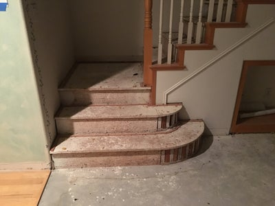 Demo and Construction of One Side of the Staircase