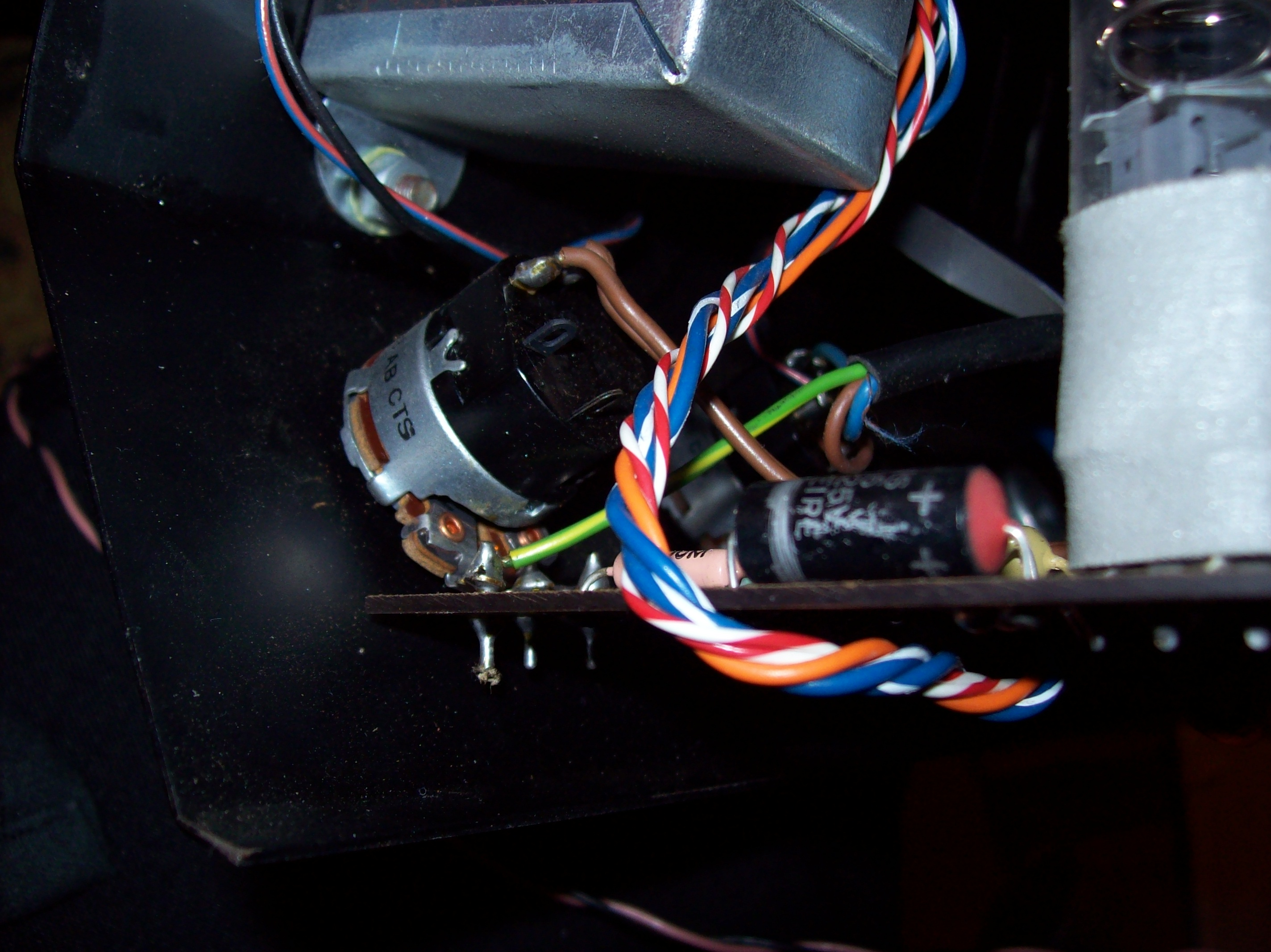 Picture of Help re-building/modding my bass guitar with an old tube amp i want to salvage parts from?