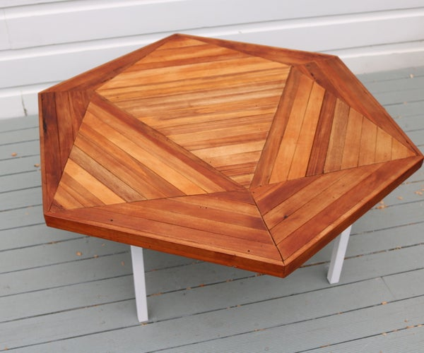 How to Build an Icosahedron Table With Reclaimed Wood