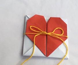 Origami Secret Heart Message Box