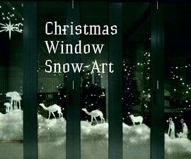 Christmas Window Snowscape