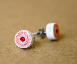 Quilled Paper Ombre Earrings