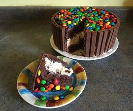Chocolate Candy Ice Cream Cake