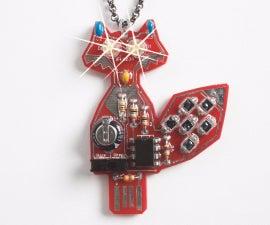 LED Fox pendant, Solar Powered kit