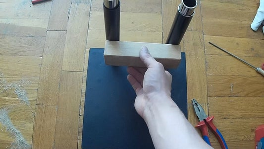 Drill Holes in Movable Tubes and Attach Them
