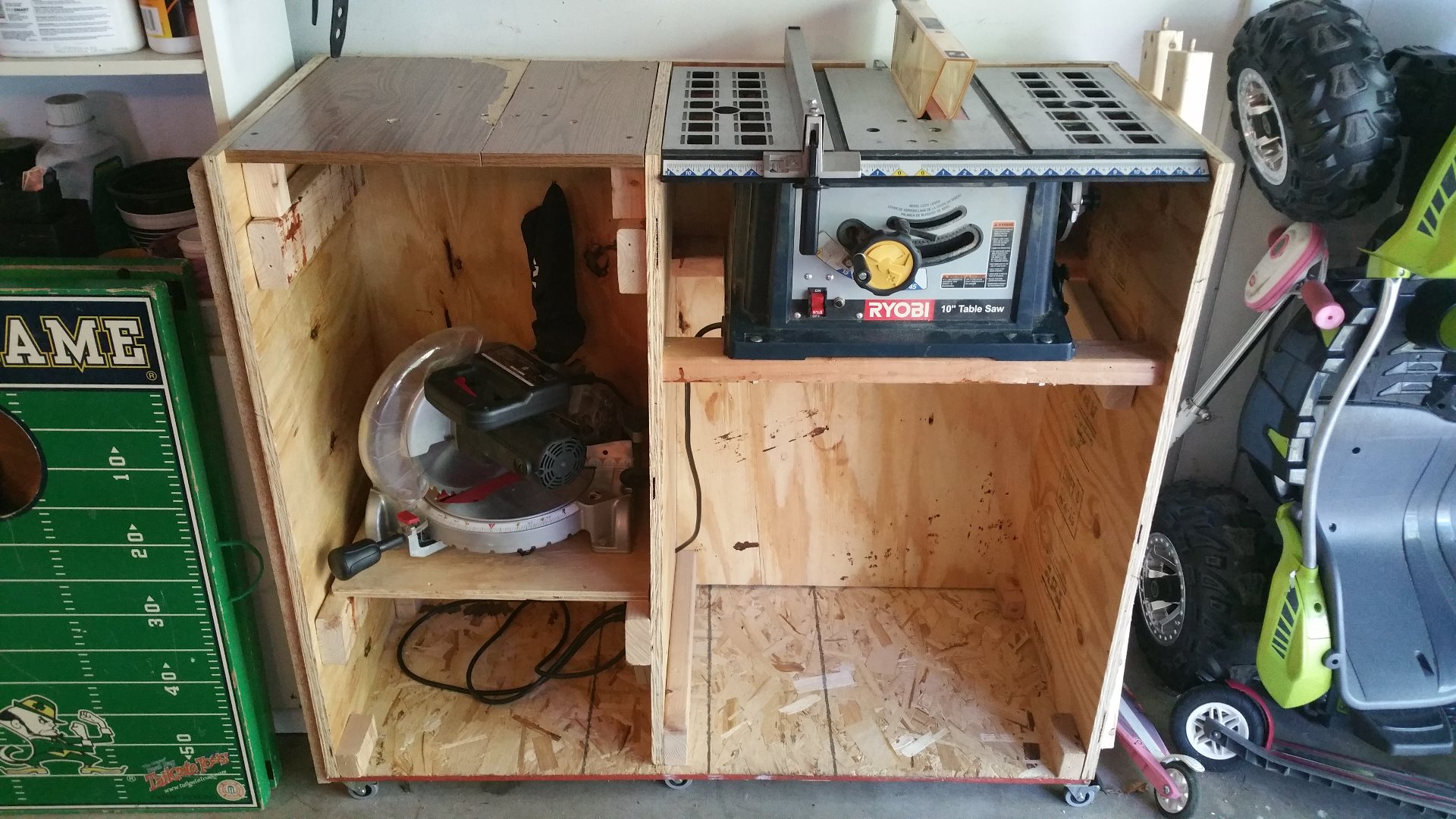 Picture of Table Saw/Miter Saw Space Saving Shelf