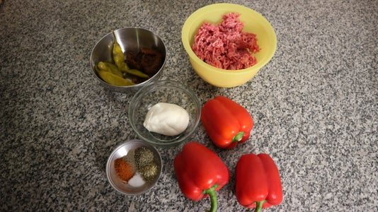 Hot Stuffed Peppers With Mozzarella Cheese Recipe