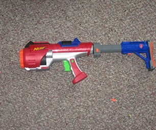 Nerf Hyperfire Dart Tag Stock and Grip Mod