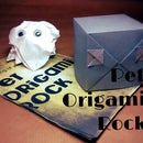 Pet Origami Rock and Manual