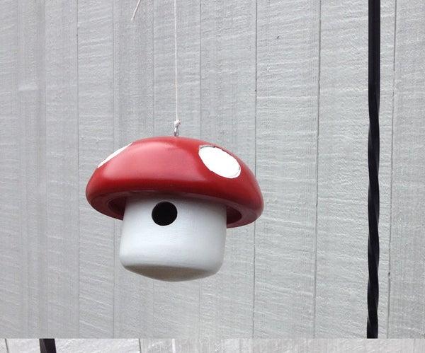 Super Mario Mushroom Birdhouse