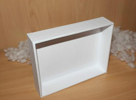 Picture of Glue White Paper to the Sides of the Frame