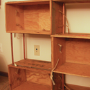 Bookshelf from wooden boxes