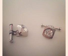 DIY Button Cuff Links