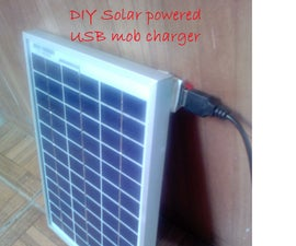 DIY Solar Powered USB Mobile Charger