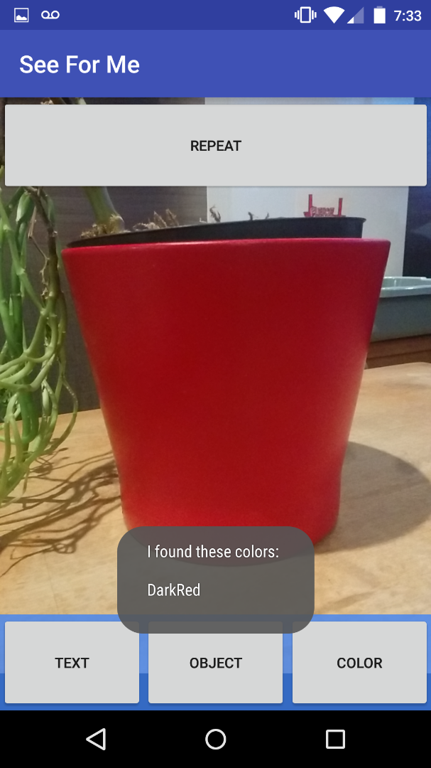 Picture of SeeForMe Accessibility App for Android