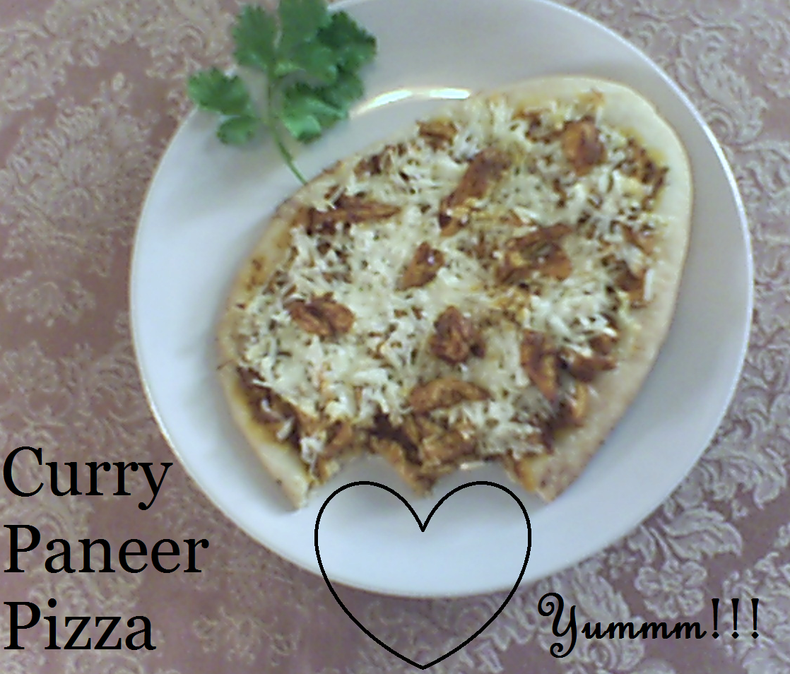 Picture of Simple Curry Paneer Pizza