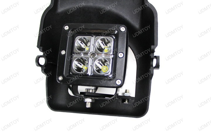 Picture of Connect the Wires of the LED Podlights to Your GMC Sierra's Factory Fog Light Harness.