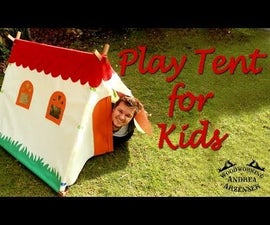 DIY Super Cool Play Tent for Kids - Easy to build!