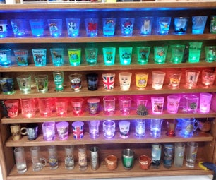 Illuminated Shot Glass Shelf