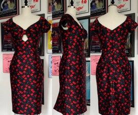 Cherry Print Wiggle Dress