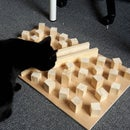 Foraging board for cats