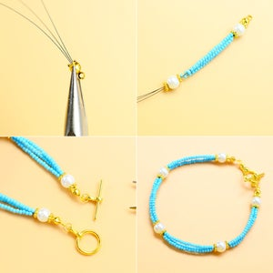 How to Make the The Blue Seed Beads Bracelet