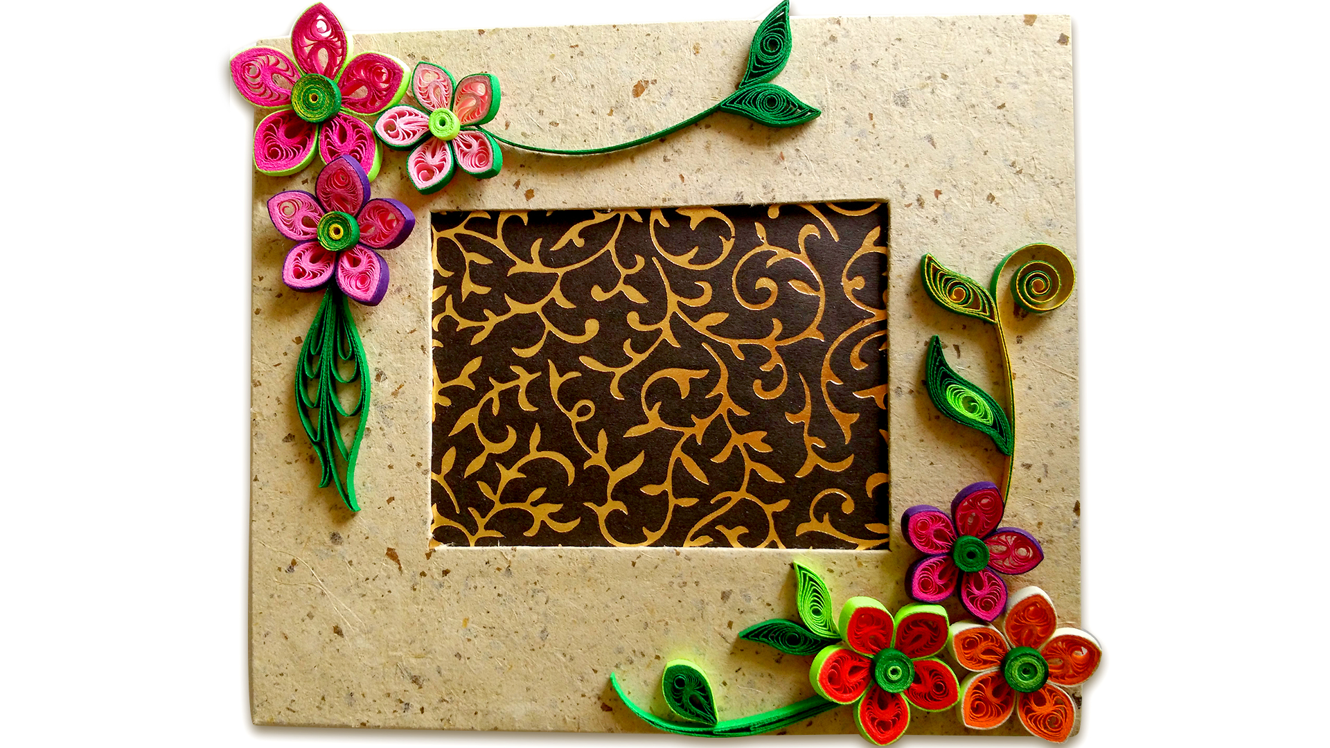 How to Make Beautiful Quilling Photo Frame | Easy Craft Ideas : 4 ...