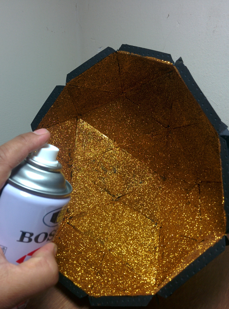 Picture of Sealing the Glitter and Metalizing the Lamp
