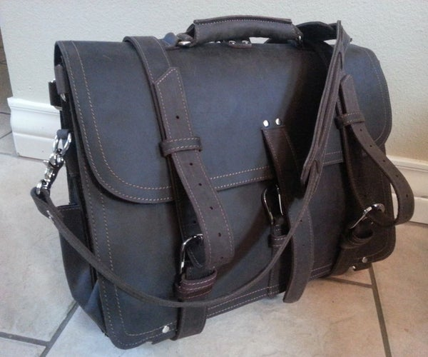 Making a Leather Briefcase/Messenger More Organized and CCW-friendly