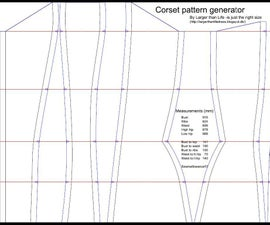 The corset pattern generator
