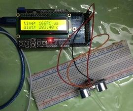 Ultrasonic Sensor With LCD