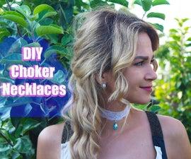 DIY Choker Nekclaces / TUTORIAL