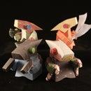 Marfusha paper toy instructions + model