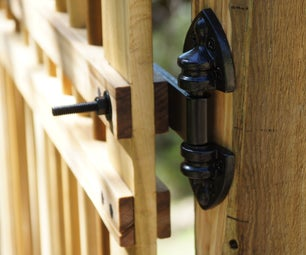 Garden Gate in an Afternoon With Zero Metal Fasteners